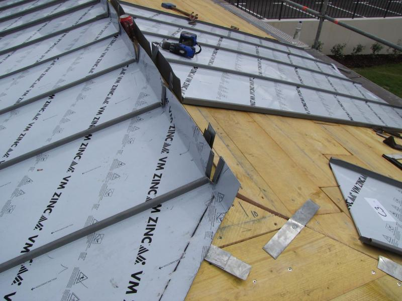 Terrasse Zinc Joint Debout Id Es De